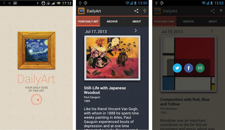 Captura de pantalla de la App DailyArt